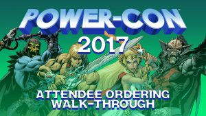 Power-Con 2017 Attendee ordering walk-through