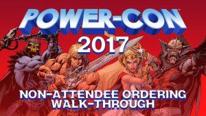 Power-Con 2017 Non-Attendee ordering walk-through